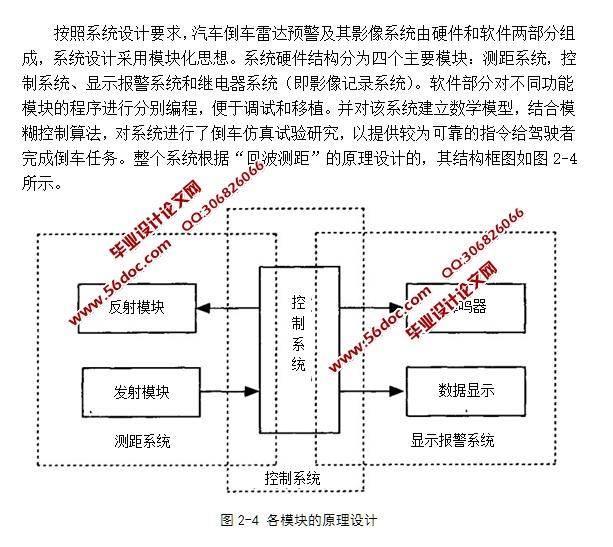 汽车安全监控系统-倒车雷达及其影像记录研究(含电路原理图,程序)