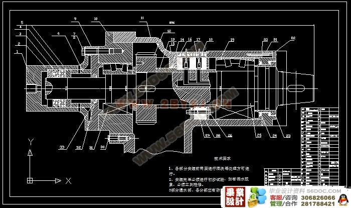 水射流采煤机切割装置设计